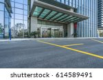 clean asphalt road with modern... | Shutterstock . vector #614589491