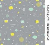 modern geometric seamless... | Shutterstock .eps vector #614592491
