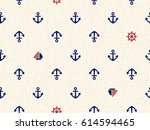 marine seamless pattern ... | Shutterstock .eps vector #614594465