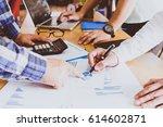 business people brainstorming... | Shutterstock . vector #614602871