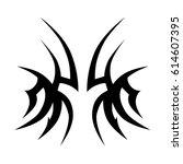 tattoo tribal vector designs.... | Shutterstock .eps vector #614607395