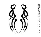 tattoo sketch tribal vector...   Shutterstock .eps vector #614607407