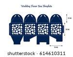 wedding favor box laser cut... | Shutterstock .eps vector #614610311