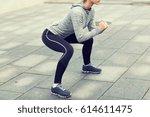 fitness  sport  exercising and... | Shutterstock . vector #614611475