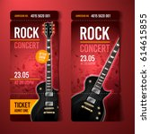 vector rock festival ticket... | Shutterstock .eps vector #614615855
