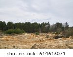 old quarry background. | Shutterstock . vector #614616071