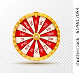 wheel of fortune lottery luck... | Shutterstock .eps vector #614617094