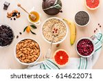 ingredients for a healthy... | Shutterstock . vector #614622071