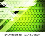 green abstract template for... | Shutterstock . vector #614624504