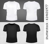 t shirt template set  | Shutterstock . vector #614631977