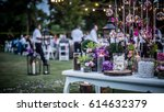 wedding ceremony with flowers... | Shutterstock . vector #614632379