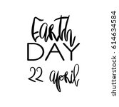 earth day concept   decorative... | Shutterstock .eps vector #614634584