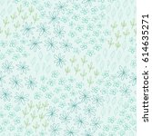cute floral pattern with hand... | Shutterstock .eps vector #614635271