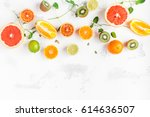 fruit background. colorful... | Shutterstock . vector #614636507