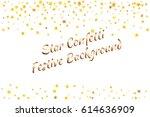 festive colorful golden star... | Shutterstock .eps vector #614636909