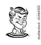 winking boy   retro clip art | Shutterstock .eps vector #61464202