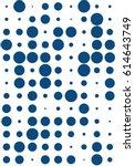 seamless polka dot pattern.... | Shutterstock .eps vector #614643749
