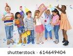 Group Of Kids Celebrate...