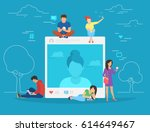 self photo concept illustration ... | Shutterstock . vector #614649467