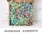 opened gift mailing shipping... | Shutterstock . vector #614650574