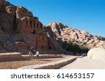 jordan  02 10 2013  a tourist... | Shutterstock . vector #614653157