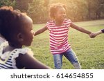 happiness group of cute and... | Shutterstock . vector #614654855