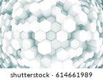 design element. 3d illustration.... | Shutterstock . vector #614661989