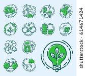 green ecology energy... | Shutterstock .eps vector #614671424