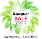 summer sale background with... | Shutterstock .eps vector #614678621