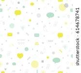 social media  communication... | Shutterstock .eps vector #614678741