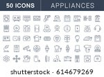 set  line icons in flat design... | Shutterstock . vector #614679269