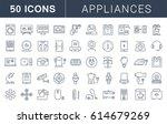 set  line icons in flat design... | Shutterstock . vector #614679269