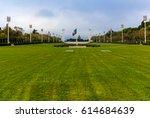 eduardo vii park in lisbon ... | Shutterstock . vector #614684639