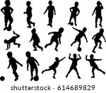 silhouette boy active vector | Shutterstock .eps vector #614689829