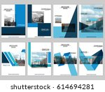 vector brochure cover templates ... | Shutterstock .eps vector #614694281