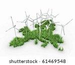 wind power generators on the... | Shutterstock . vector #61469548