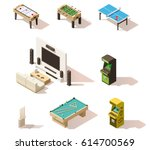 vector isometric games set | Shutterstock .eps vector #614700569