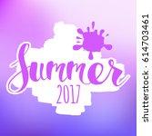 lettering composition of summer ... | Shutterstock .eps vector #614703461