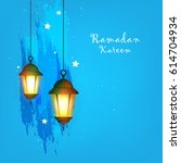 ramadan kareem wallpaper design ... | Shutterstock .eps vector #614704934