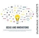 imagination and innovation ...   Shutterstock .eps vector #614705375
