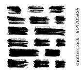black vector brush strokes of...   Shutterstock .eps vector #614705639
