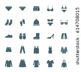 clothes silhouettes icons | Shutterstock .eps vector #614708015