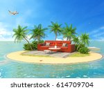 the concept of vacation. rest... | Shutterstock . vector #614709704