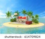 the concept of vacation. rest... | Shutterstock . vector #614709824