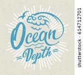 ocean logo. hand drawing | Shutterstock .eps vector #614712701