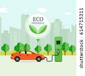 eco friendly fuel concept.... | Shutterstock .eps vector #614715311