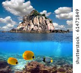 tropical paradise and corals on ... | Shutterstock . vector #61471849