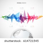 infographic template with... | Shutterstock .eps vector #614721545
