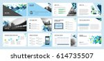business presentation templates.... | Shutterstock .eps vector #614735507