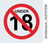 no under 18 sign gray | Shutterstock .eps vector #614737034